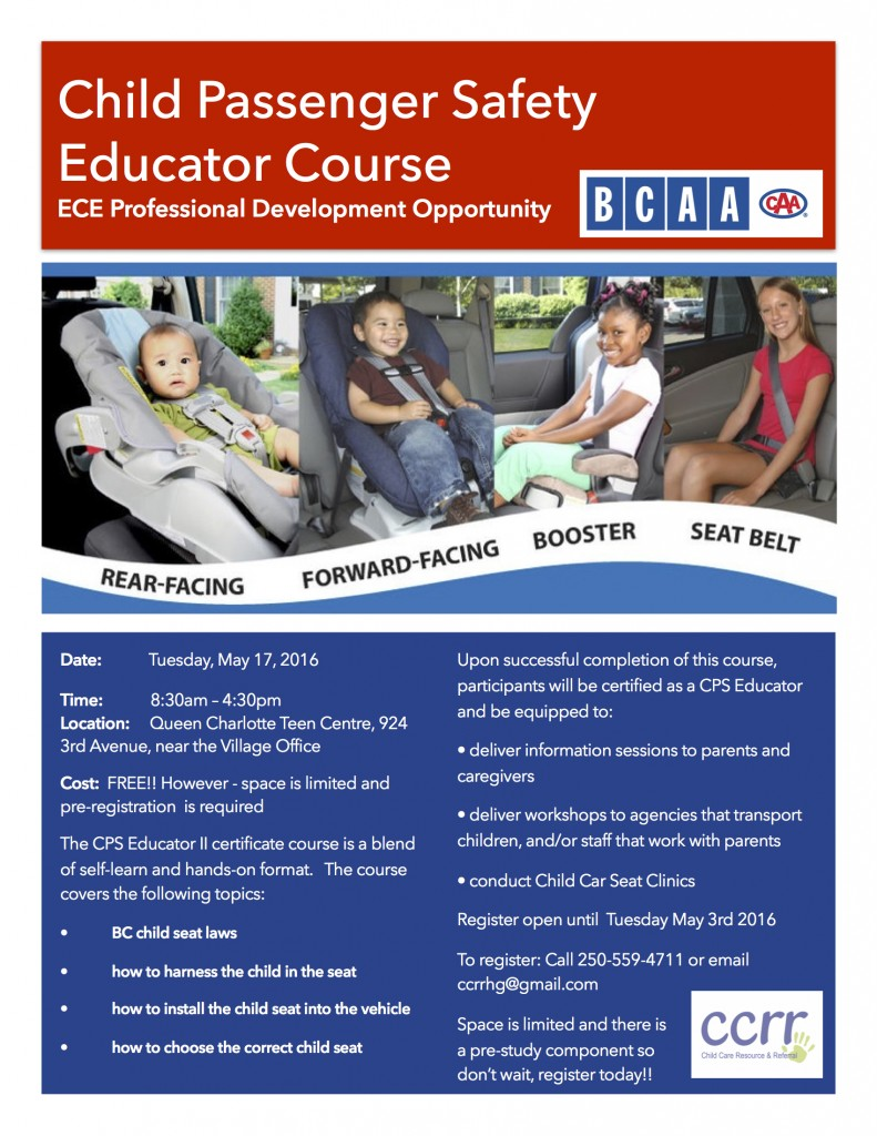 Car Seat workshop poster